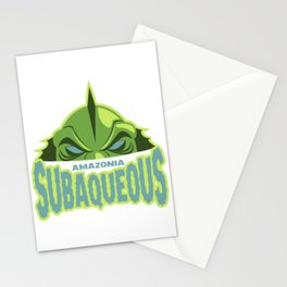 amazonia subaqueous Stationery Cards