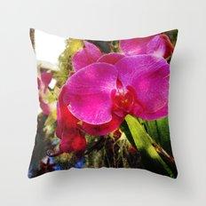orchids3 Throw Pillow