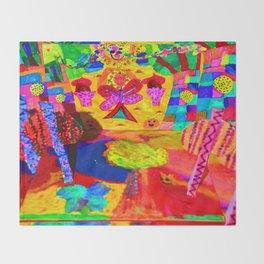 Colorful Feast | Kids Painting Throw Blanket