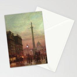 Trafalgar Square, Nelson's Column, London, England, Twilight by John Atkinson Grimshaw Stationery Cards