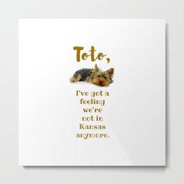 Dorothy's Toto Metal Print