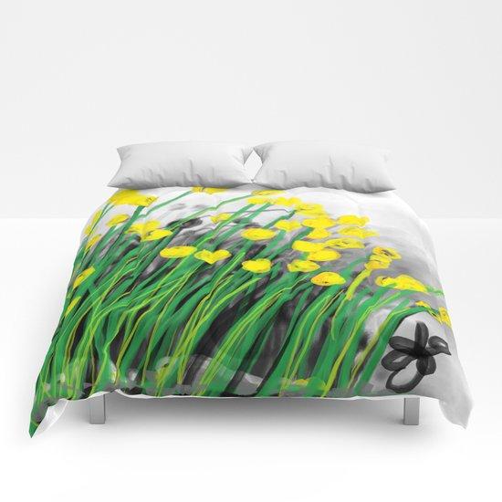 Yellow Flowers! Comforters