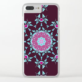 red berry pattern Clear iPhone Case