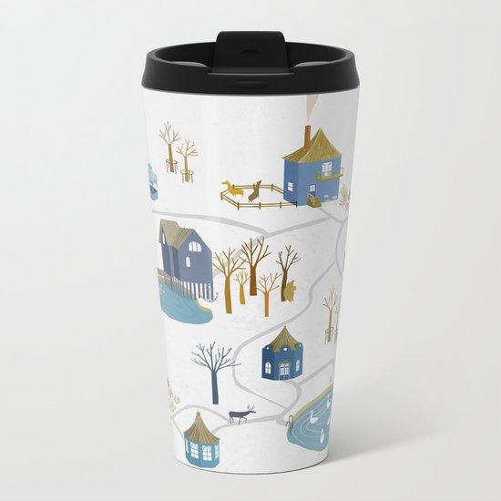 BLUE VILLAGE Metal Travel Mug