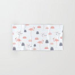 Minimal Flamingo Hand & Bath Towel