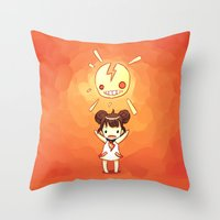 always sunny Throw Pillows featuring Sunny by Freeminds