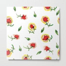 Red Carnation #spring #floral #homedecor Metal Print