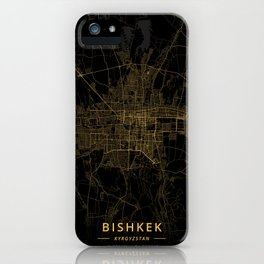 Bishkek, Kyrgyzstan - Gold iPhone Case