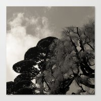 japanese Canvas Prints featuring japanese by noirblanc777