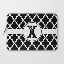 Black Monogram: Letter X Laptop Sleeve