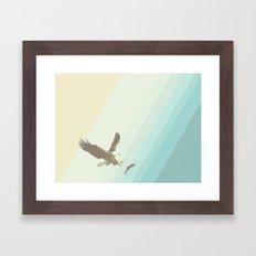 Eagle & Fish Framed Art Print