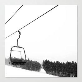 Ski Lifts Views Canvas Print