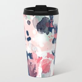 Hayes - abstract painting minimal trendy colors nursery baby decor office art Travel Mug