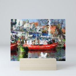 In the harbour Mini Art Print