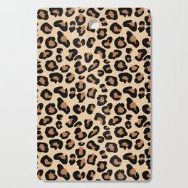 Leopard Print, Black, Brown, Rust and Tan Cutting Board