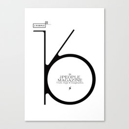 Jpeople Magazine 16 / Truth, Style & Imagination Canvas Print
