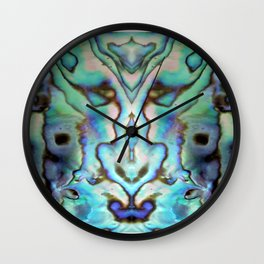 Seashell Abstract Wall Clock