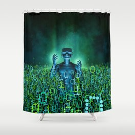 Virtual Dawn Shower Curtain