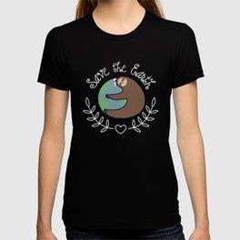 Save The Earth Sloth T-shirt