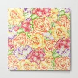 Immersed in Flowers Metal Print