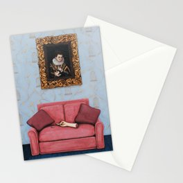 Portrait of a Stymied Lady and her Dog Stationery Cards