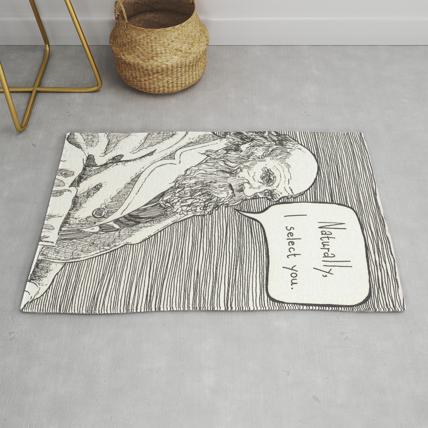 Naturally I Select You Rug By