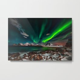 Aurora Borealis - Northern Lights - Twilight Metal Print