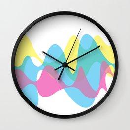 CMYK curves Wall Clock