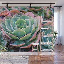 Succulent Garden Vibrant Pastel Wall Mural