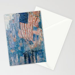 The Avenue in the Rain by Childe Hassam, 1917 Stationery Cards