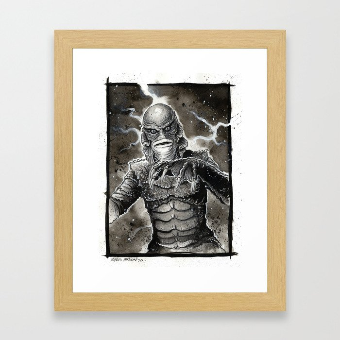 Creature from the Black Lagoon Framed Art Print