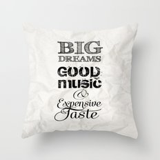 BIg DREAMS Throw Pillow