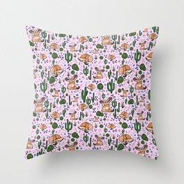 Cute Fennec Fox Pattern Throw Pillow