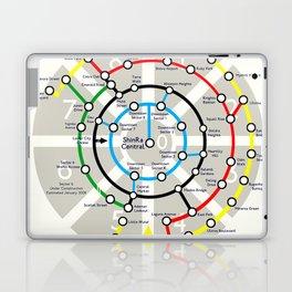 Final Fantasy VII - Midgar Mass Transit System Map Laptop & iPad Skin