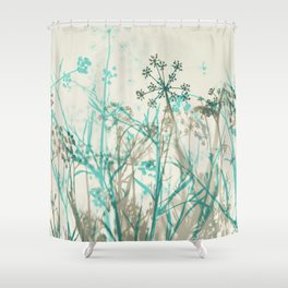 Abstract Botanical Shower Curtain