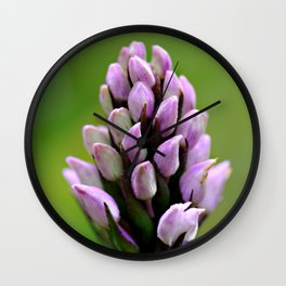 Common Spotted Orchid Wall Clock
