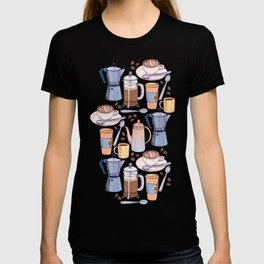 Coffee Love on Yellow T-shirt