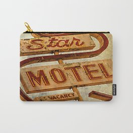Vintage Grunge Motel Sign Carry-All Pouch
