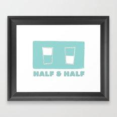 half & half Framed Art Print