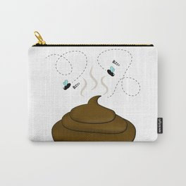 Smelly poop with flies illustration Carry-All Pouch