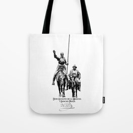 Don Quixote de la Mancha y Sancho Panza-Cervantes-Spain-Literature-Chivalry, Knighthood Tote Bag