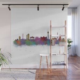 Berlin City Skyline HQ4 Wall Mural