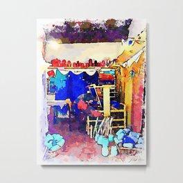 Barbarano Romano: yarn store interior Metal Print