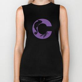 C is for Chameleon - Animal Alphabet Series Biker Tank