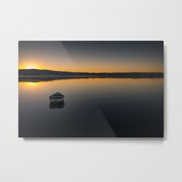 Boat on Knysna lagoon at Sunrise Metal Print