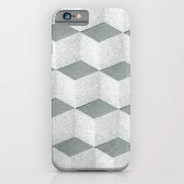 Seamless cubic geometric pattern design for home decoration iPhone Case
