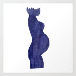 Purple Mama Ink Painting 3 Art Print