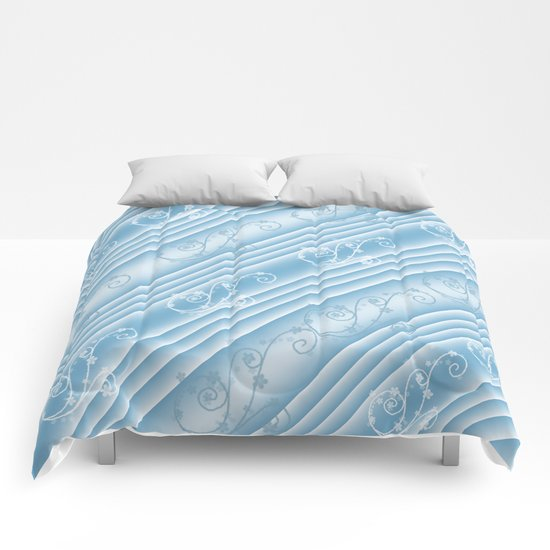 Elegant Swirl and Stripes Abstract Comforters