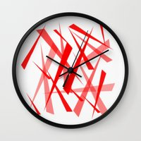 chaos Wall Clocks featuring chaos by Sébastien BOUVIER