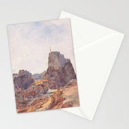 The Castle Of San Lorenzo In Ragusa 1840 by Rudolf von Alt | Reproduction Stationery Cards
